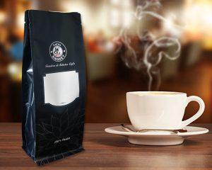Zielone opakowanie kawy