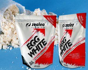Opakowanie w proszku z białego jajka